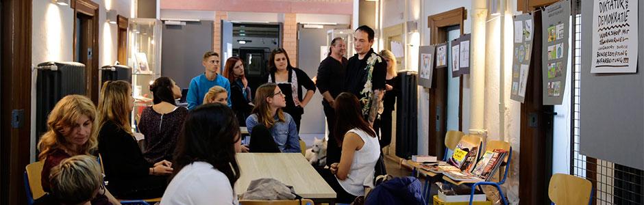 Workshop mit Jugendlichen im Cartoonmuseum der Cartoonlobby